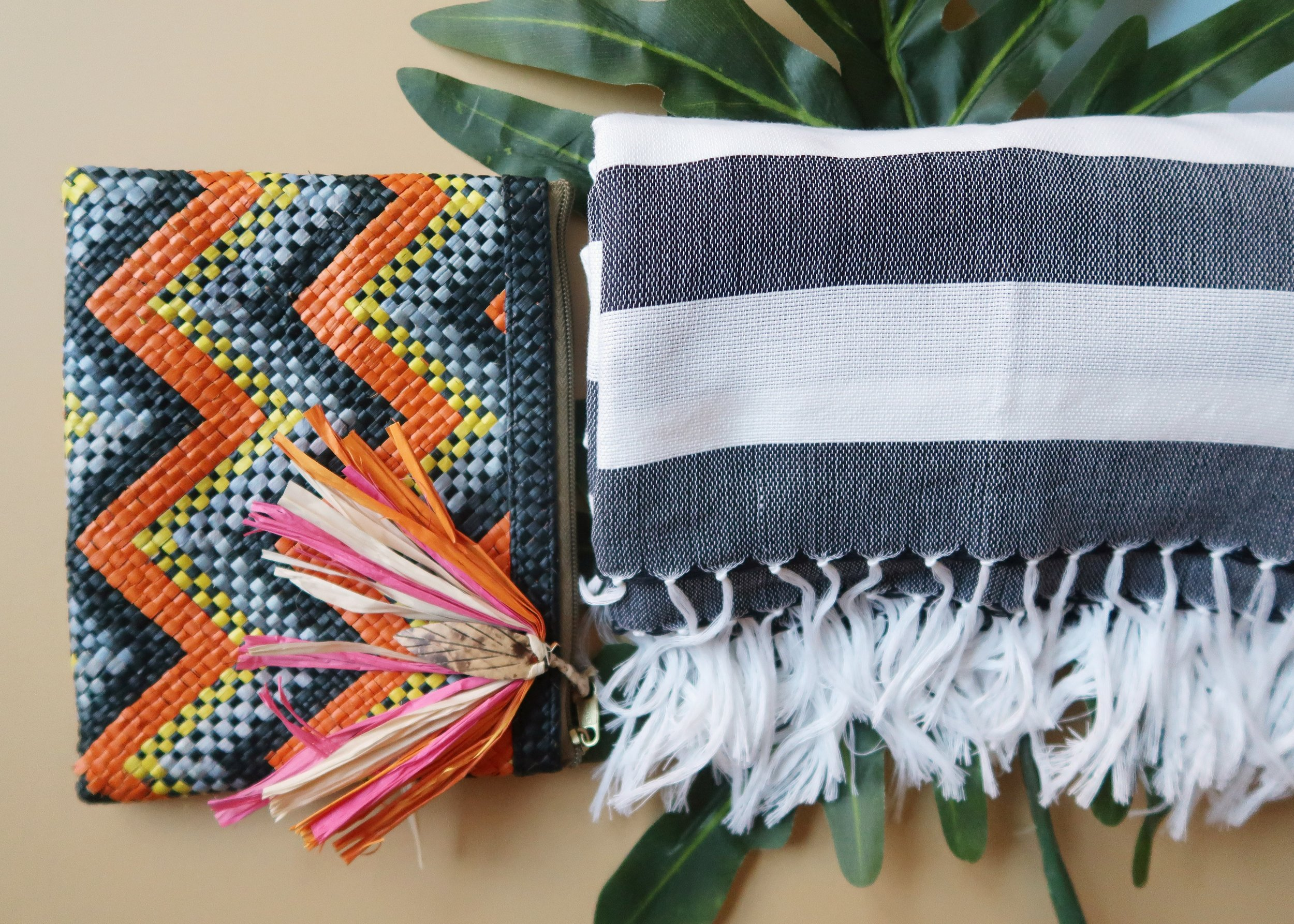 Boho Zip Pouch  and  Inabel Square Throw