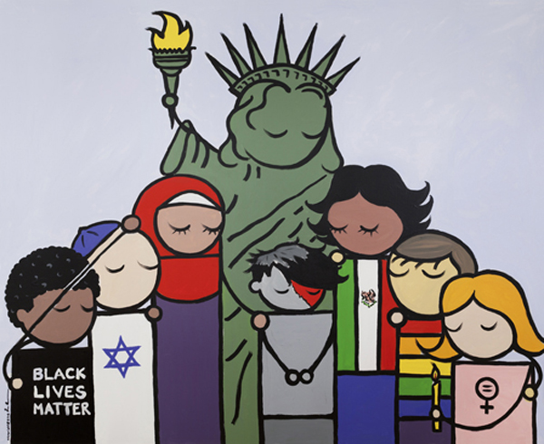 """Photo provided by Bren Bataclan / """"Liberty For All Painting"""