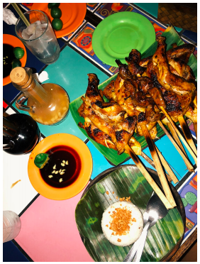 One of the best meals of the trip:  Bacolod chicken inasal  at Chicken House © Sophie de Castro