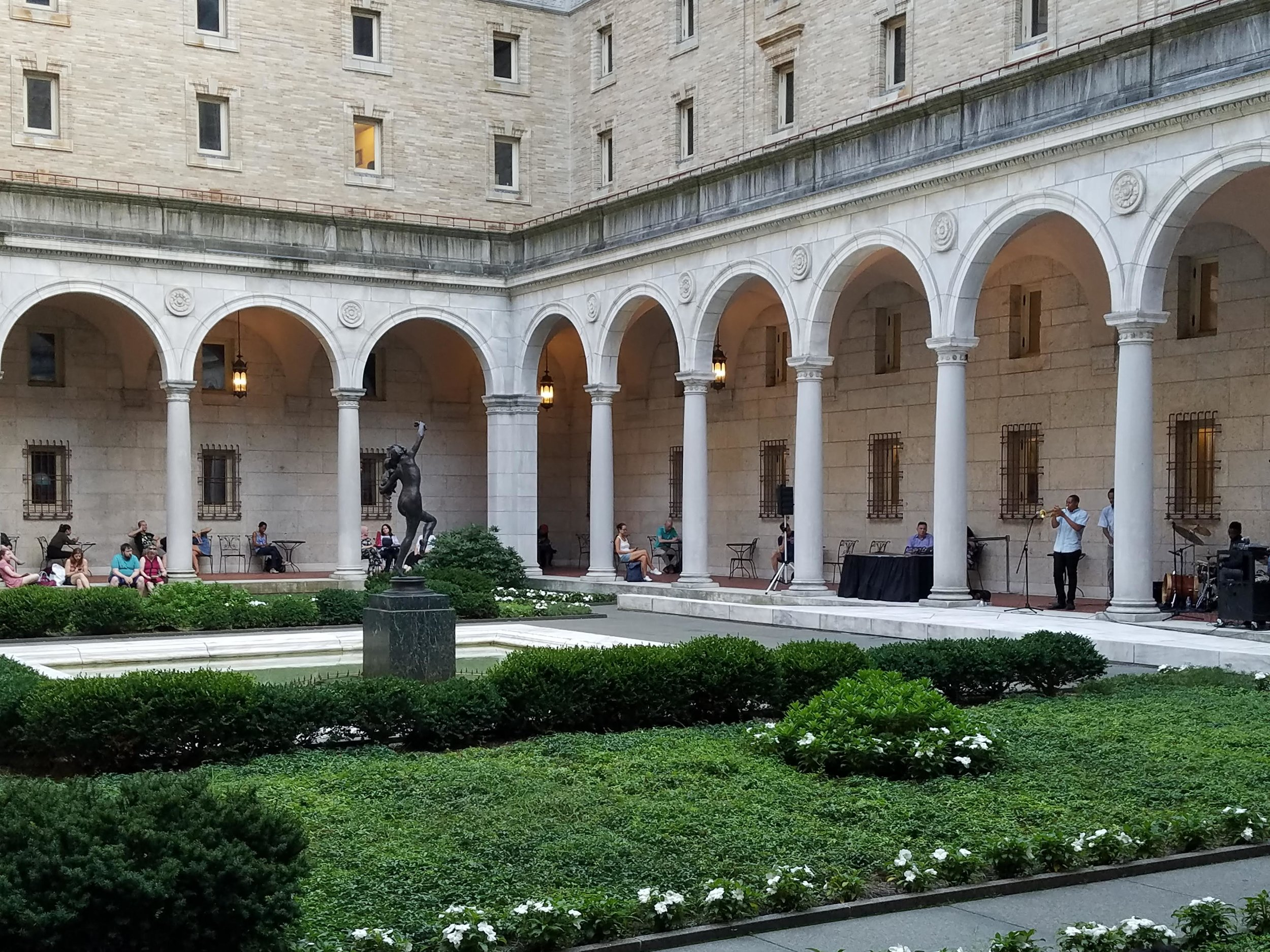 Boston Public Library Courtyard / Taken by Trish Fontanilla