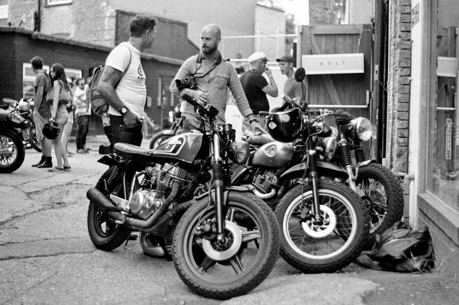 Motorcycles outside Bolt London.