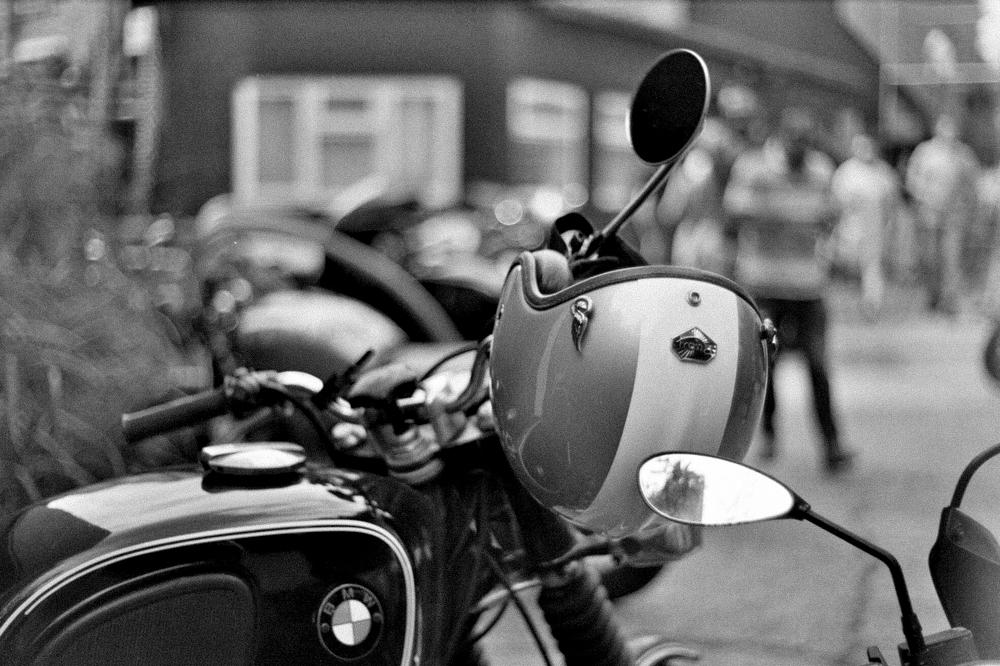 Motorcycle outside Bolt London.