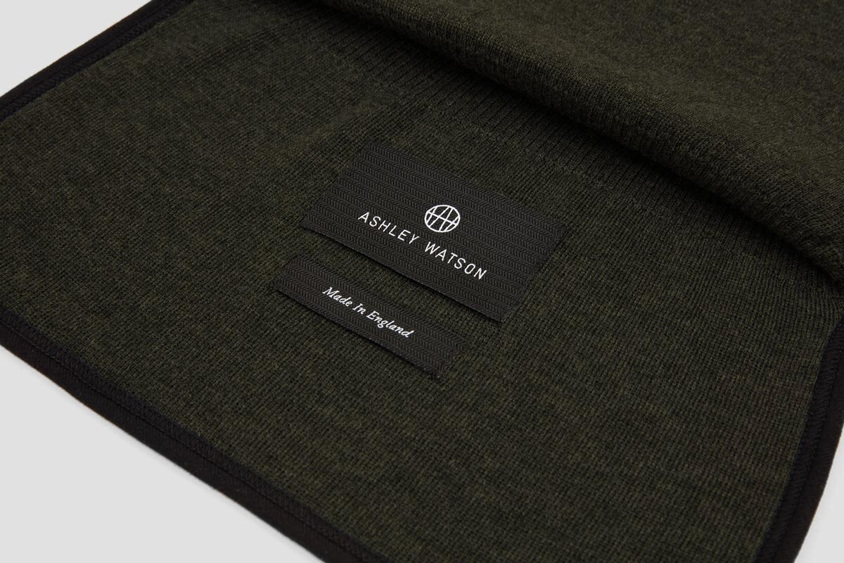 Hand-bound edges. 100% Merino. Made In England.