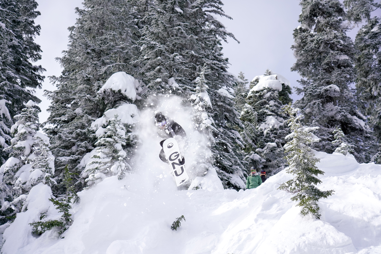 Austin Blair grabbing some air in the Snake Dance area of Alpental.