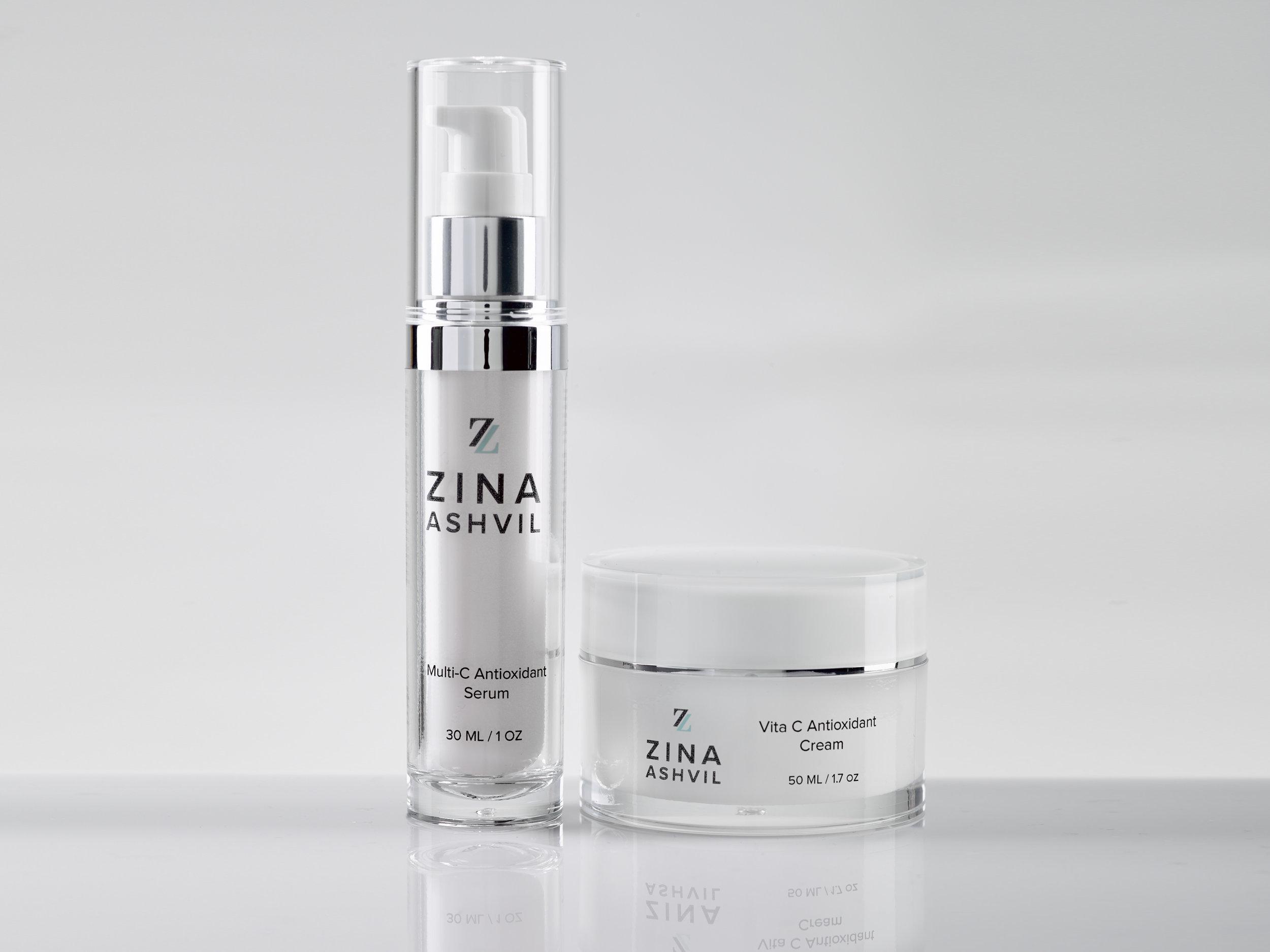 zina ashvil skincare products-multi-c serum and vita c cream.jpg