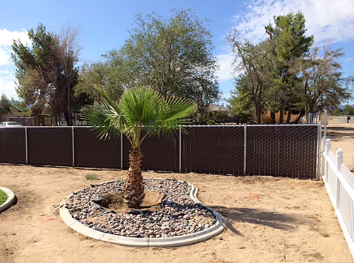 PRIVACY LINK - Privacy link fencing is an alternative to wood and vinyl privacy fencing. It offers both privacy and beauty to your residential or commercial property. Marriott Fence Construction uses all 2 3/8