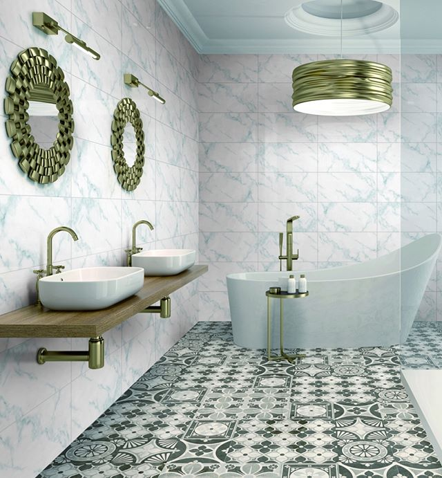 Patterned floor tiles are a great way to add dimension to a room. These patterned tiles from MULtile are a sure way to add excitement to any room in your home! Shop more designs like these at Xclusive Tile!