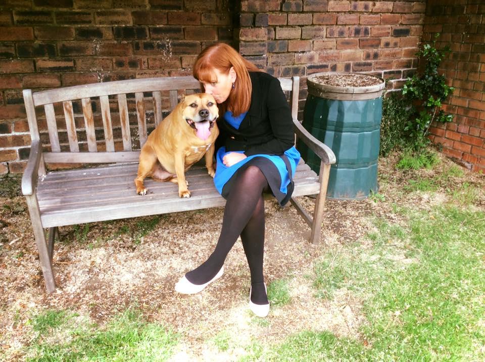 Edinburgh, Scotland dog training - Sitting on bench