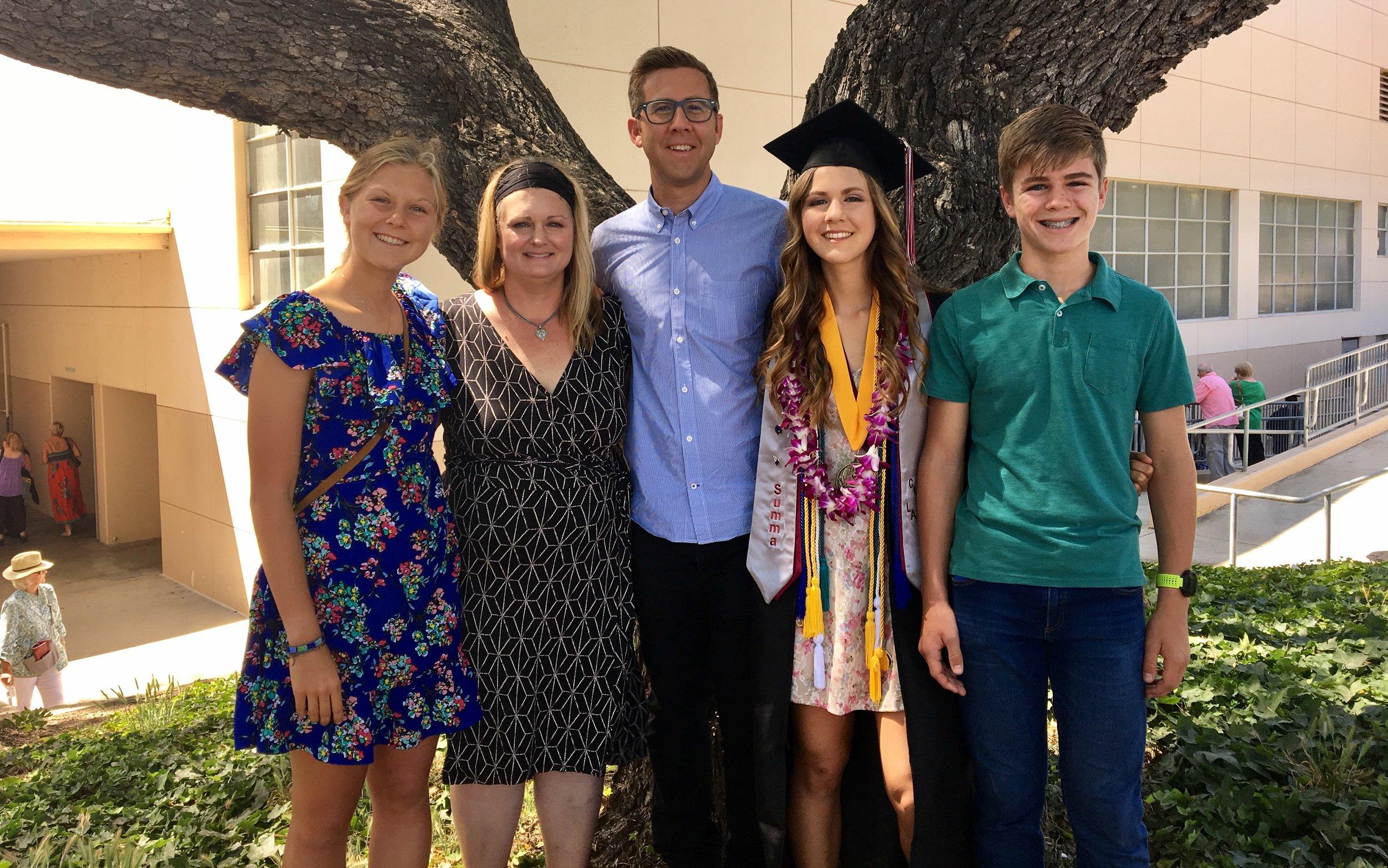 Annika, Jill, David, Emily (The Graduate), Zack