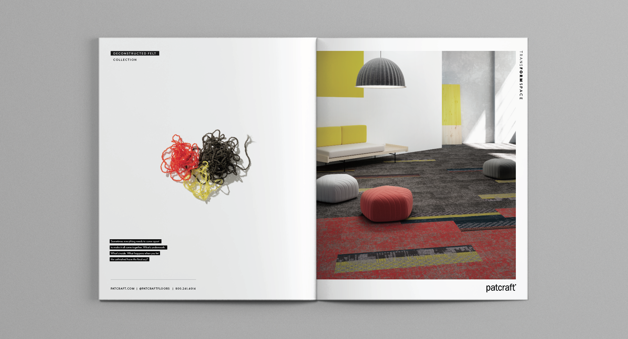 print ads / deconstructed felt collection