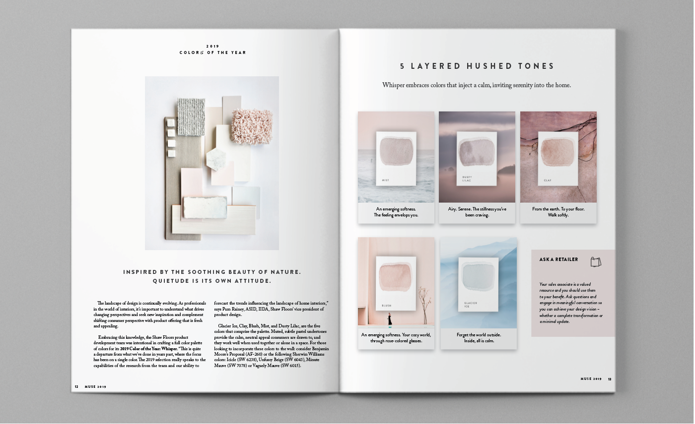 article layout / shaw floors muse + stylebook