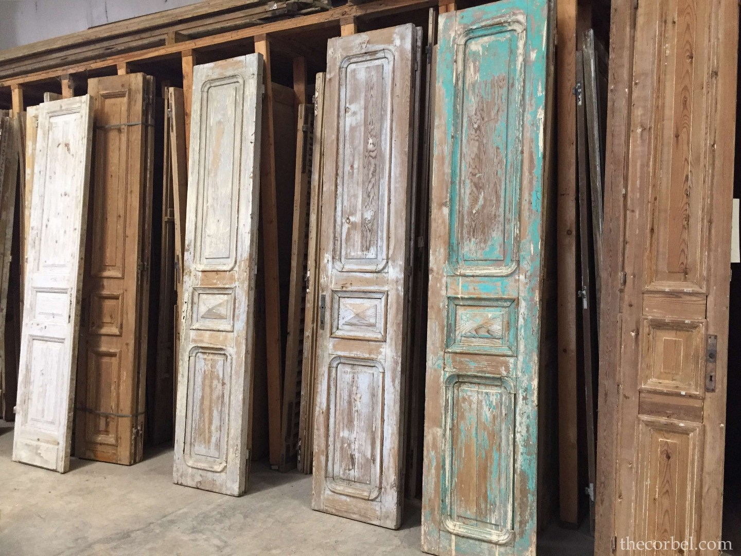 chippy painted old doors