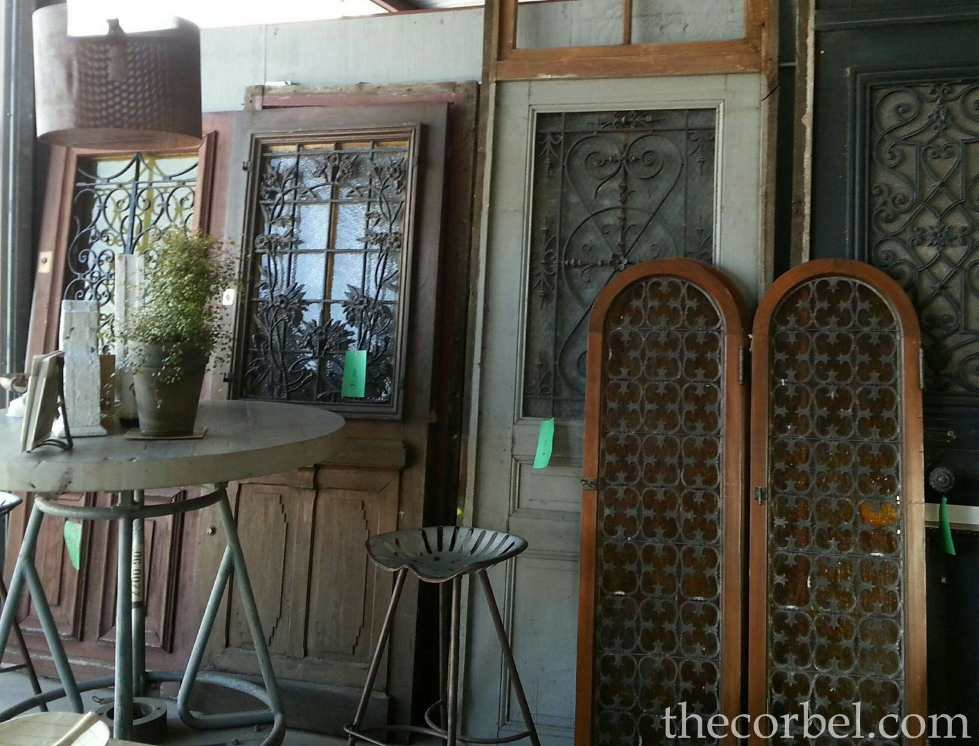 antique doors with iron