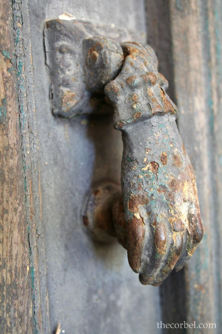 antique hand door knocker
