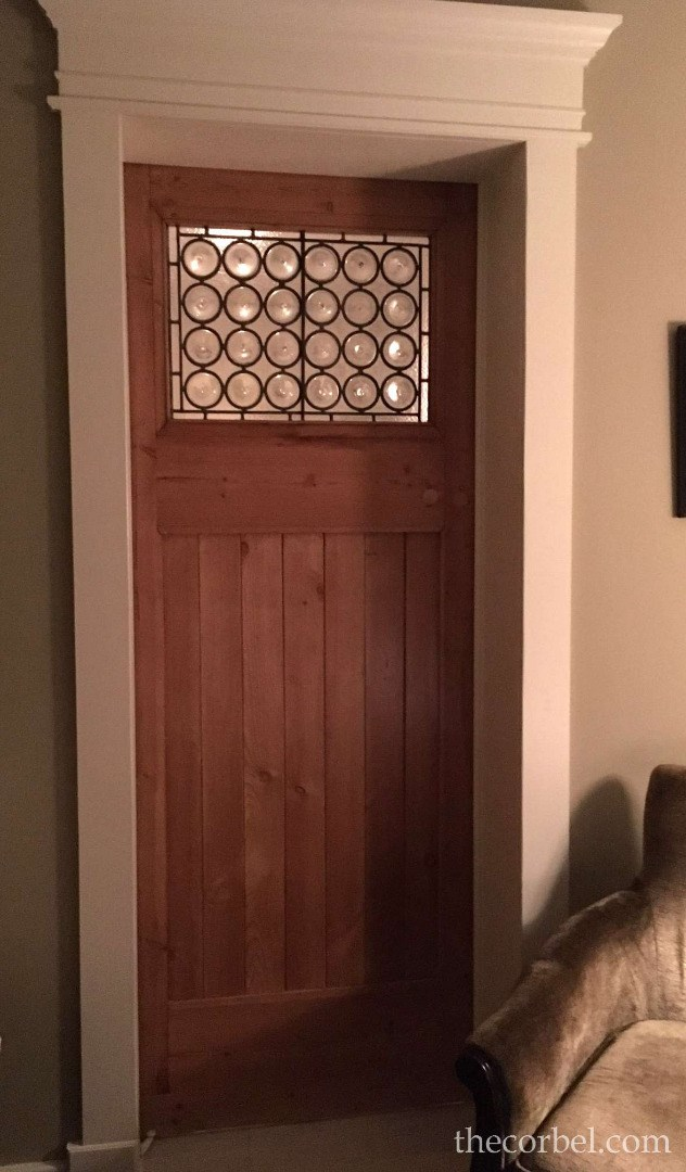 antique door leaded glass used in home