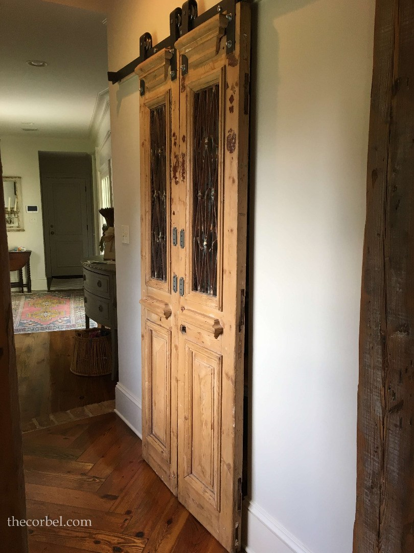 antique iron doors on barn hardware