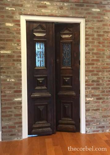 antique iron doors