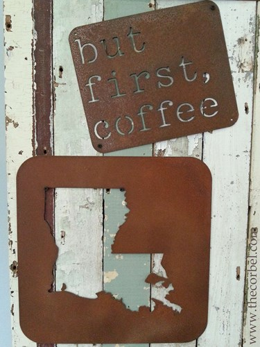 rusted metal signs louisiana coffee
