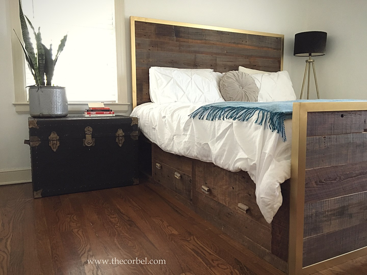 custom bed reclaimed wood