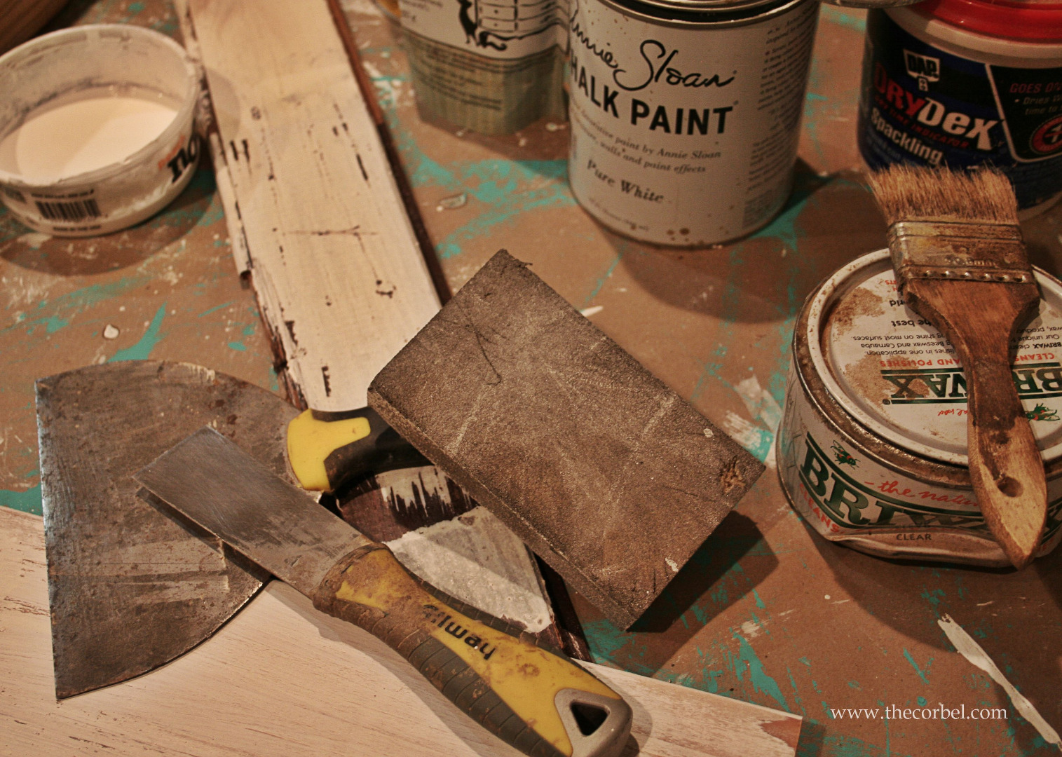 DIY chippy paint finish