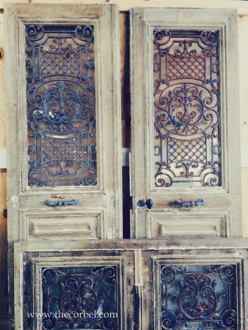 antique iron doors