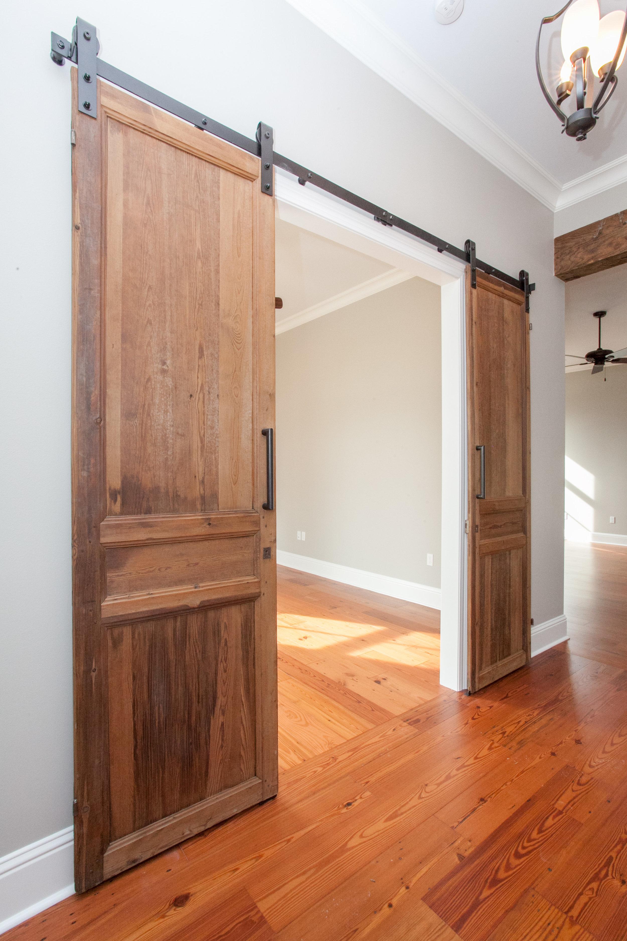 antique barn doors on sliders