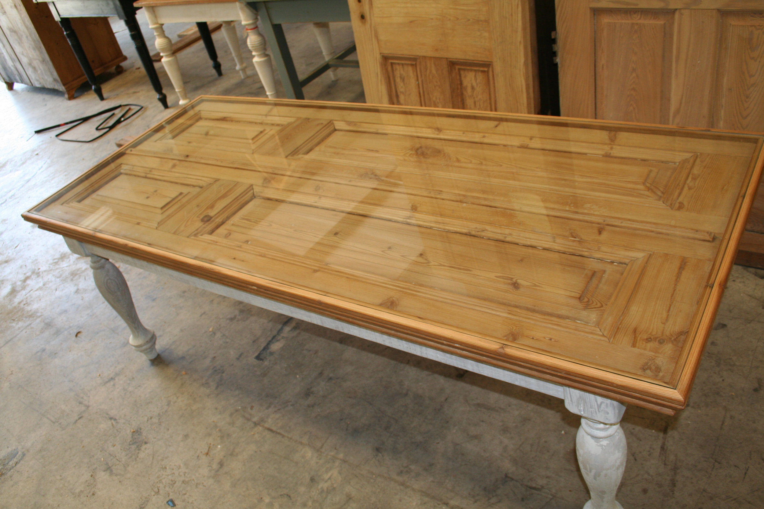 Door table with glass turned legs (2).jpg