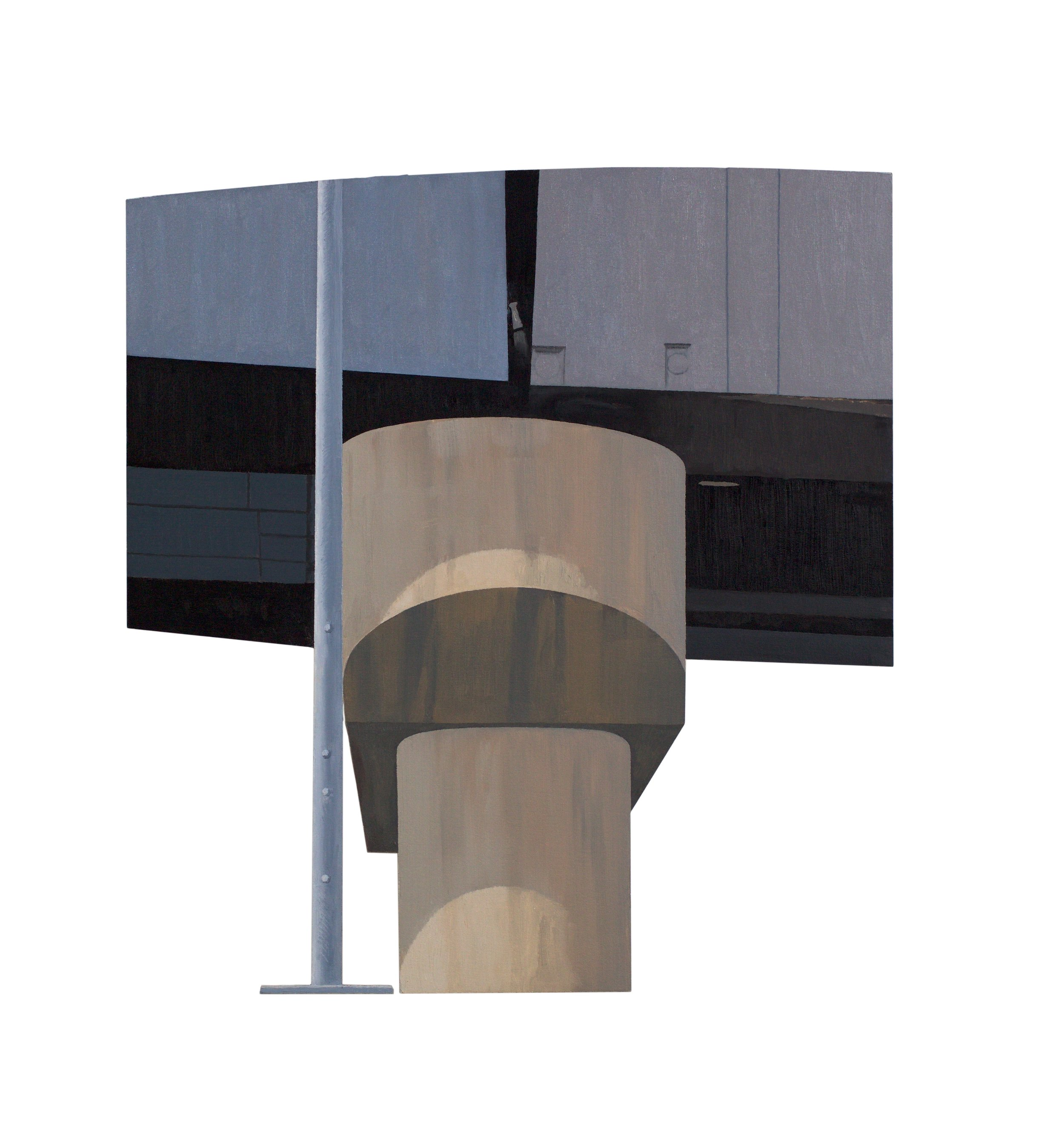 supporting column, elevated cloverleaf, Boston