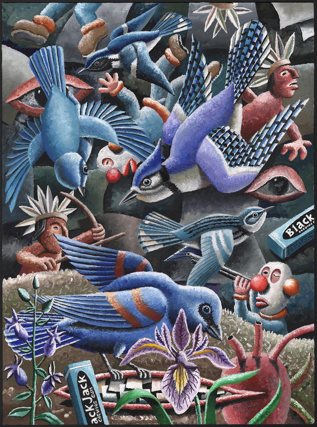 Black-throated Blue Warbler Mask