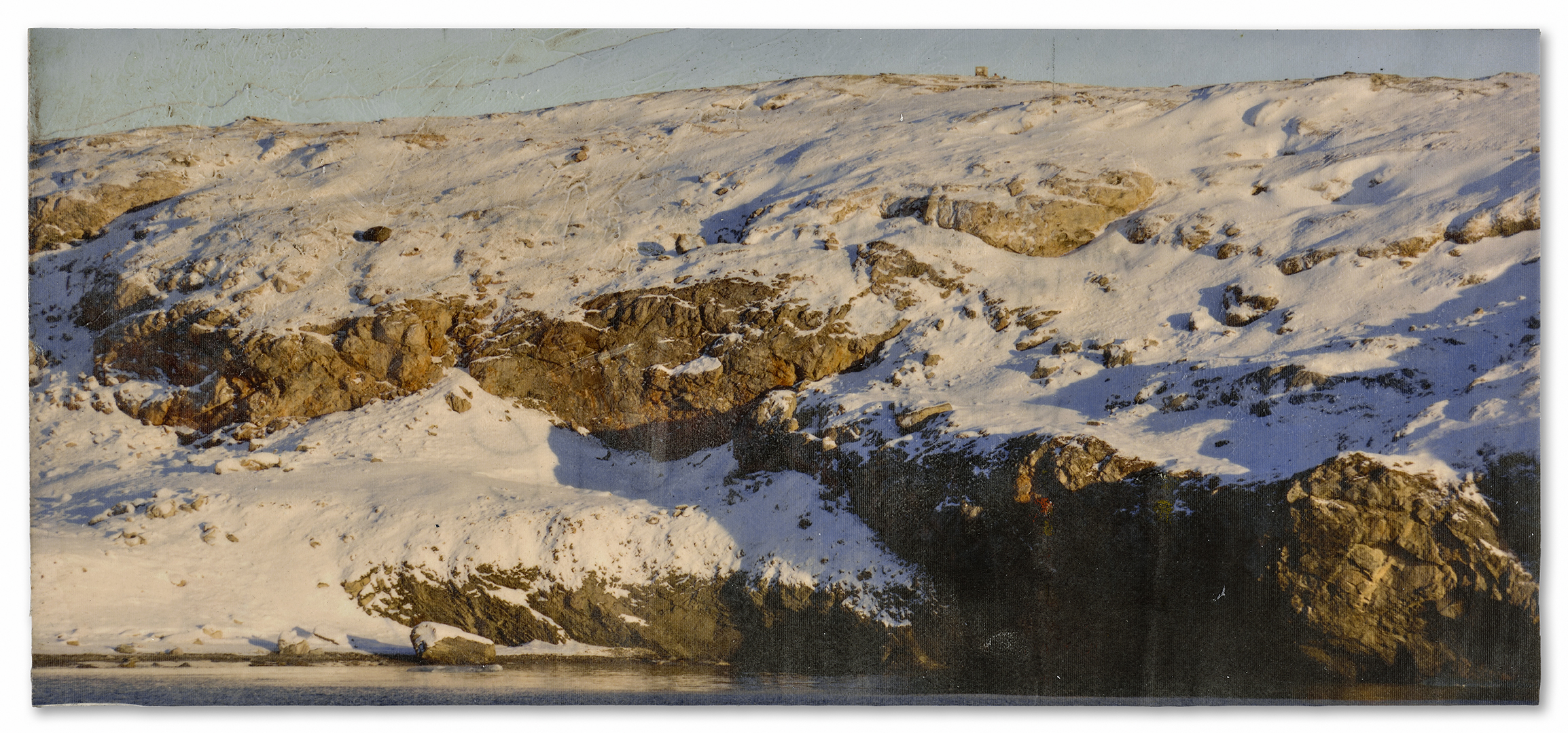 Snow with Golden Moraine