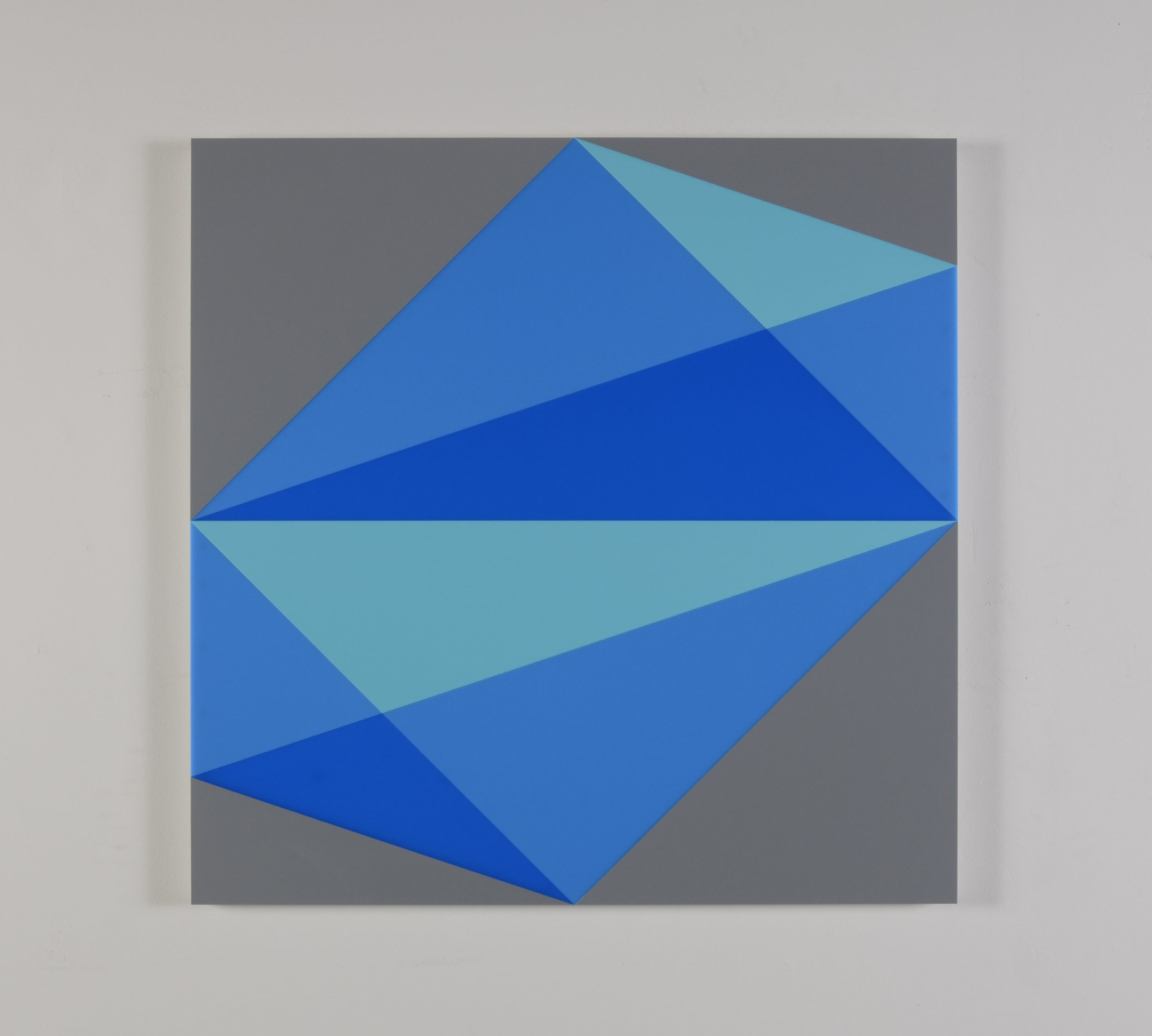 Composition in<br>2307 Turquoise, 2648 Blue,<br>2051 Blue and 3001 Gray