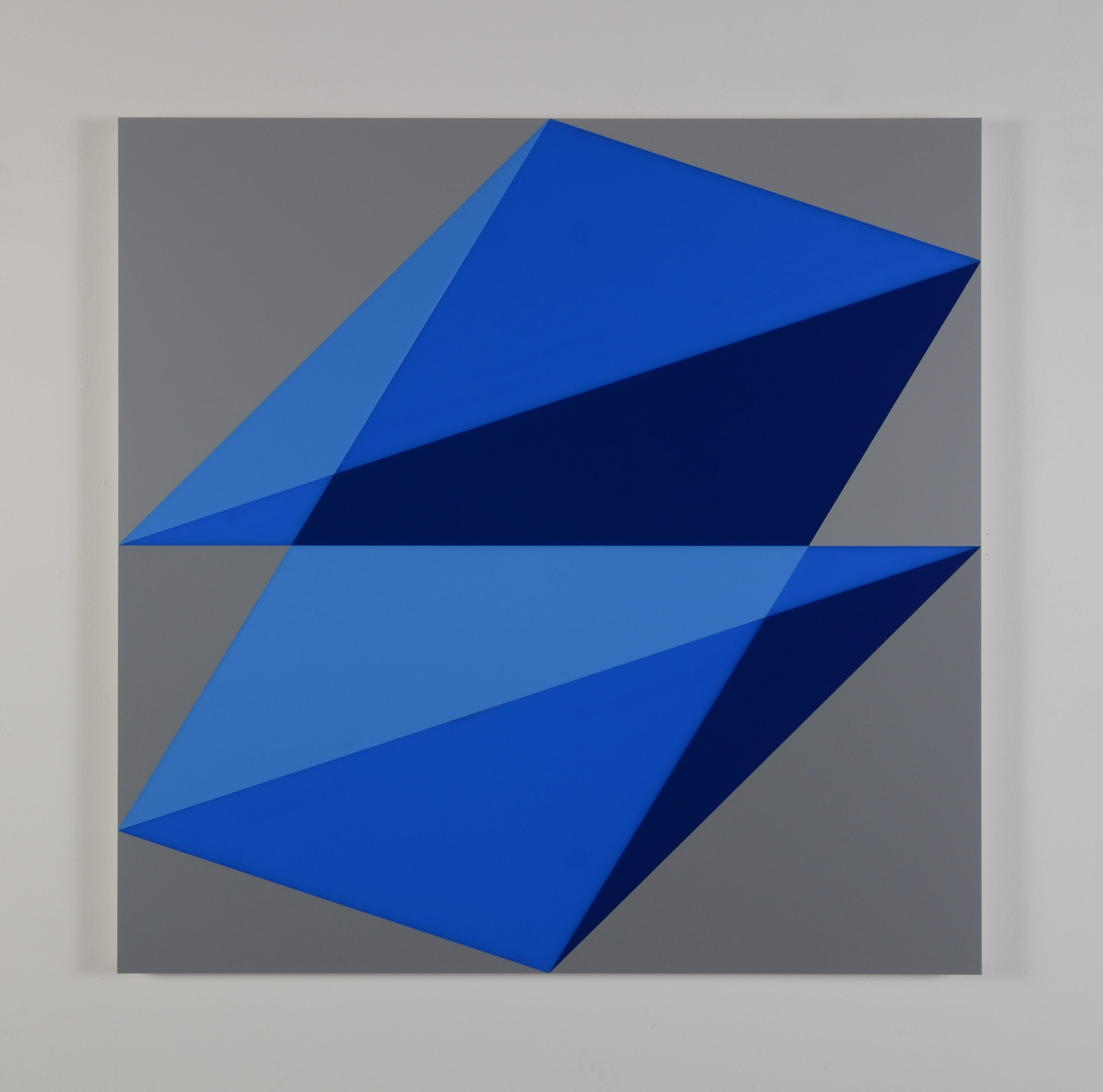 Composition in 2648 Blue,2051 Blue, 2114 Blueand 3001 Gray