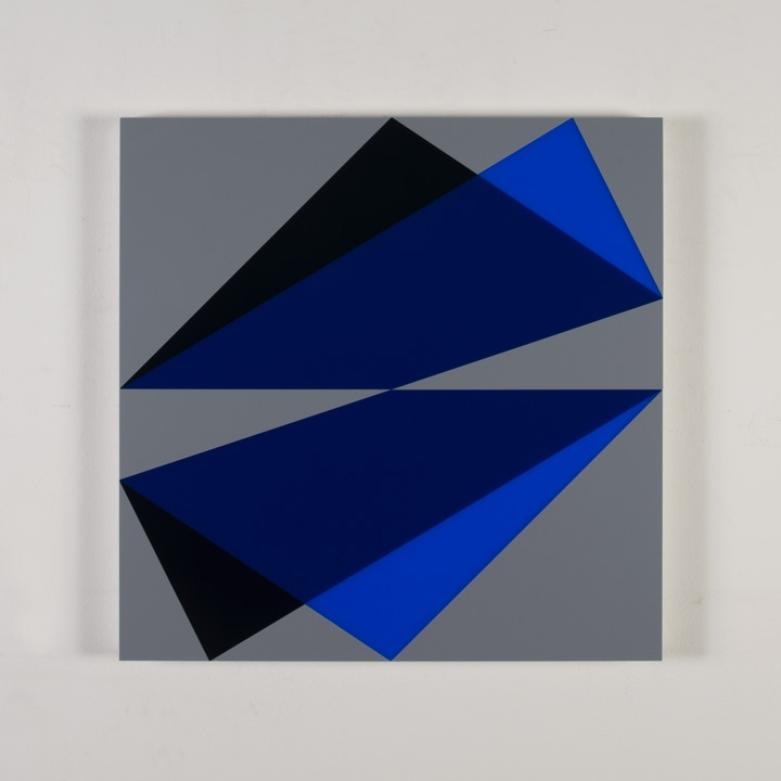 Composition in 2051 Blue, <br> 2114 Blue, 5295BA Indigo <br> and 3001 Gray