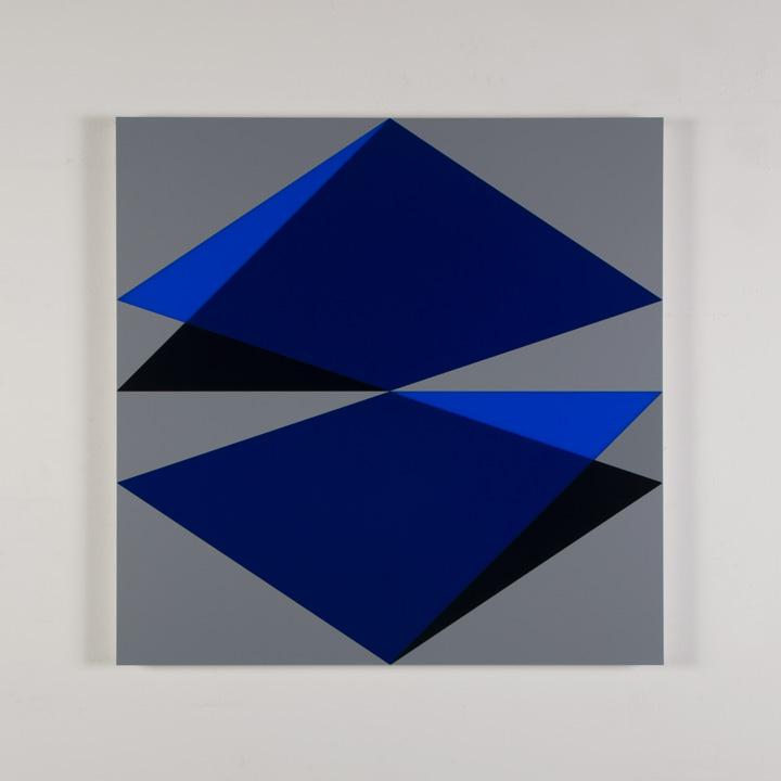 Composition in 2051 <br> Blue, 2114 Blue, <br> 5295BA Indigo and <br> 3001 Gray