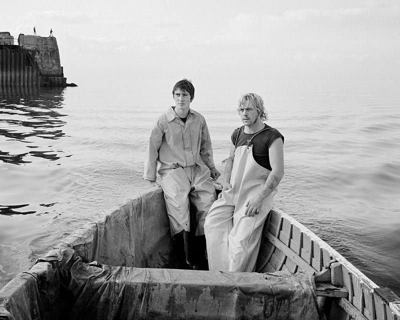 Blackie and Mato Smith at sea