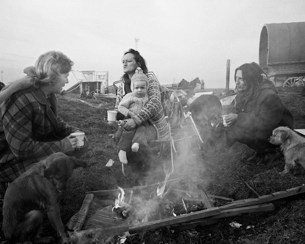 Margaret, Rosie & Val by burning deckchair