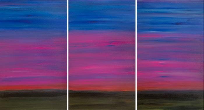 Triptych Sky 48x30 Each