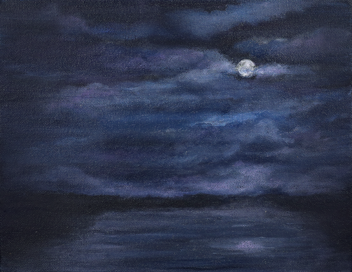 Full Moon Over The Tank 8x10