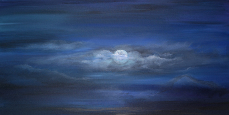 Once in a Blue Moon 24x48