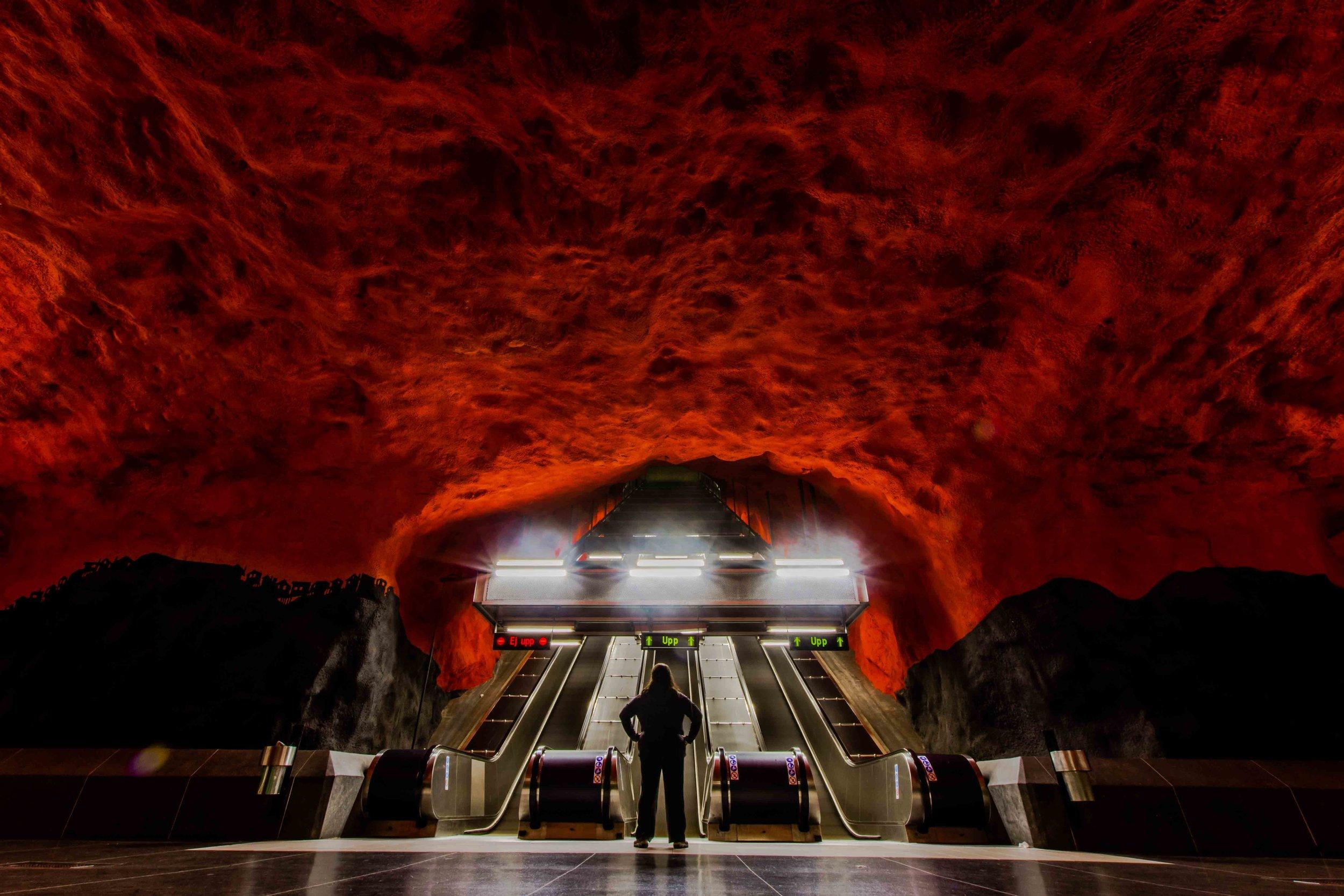 Solna Centrum Station - Stockholm, Sweden