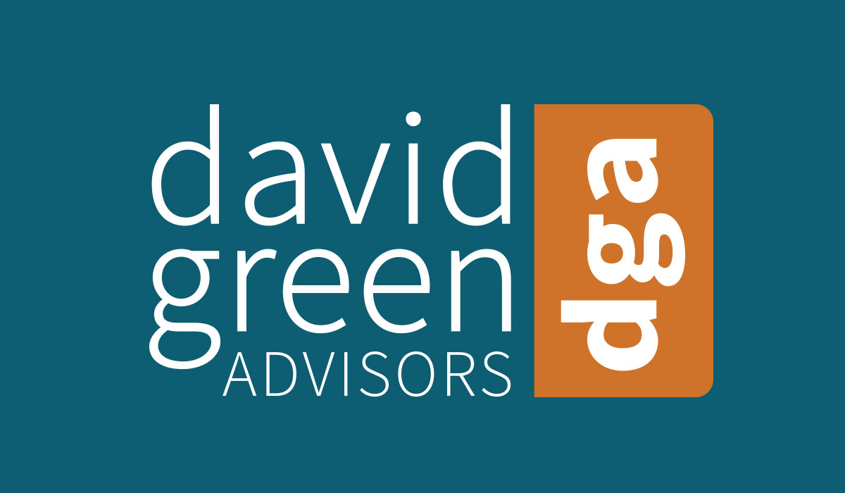 "Solution - David creates ease of information for the people he works with; also reflective in DGA's identity. David started lean with plans to grow the company. The logo is versatile for when the company grows. His name could potentially be dropped and just the use of ""dga"" would be needed."