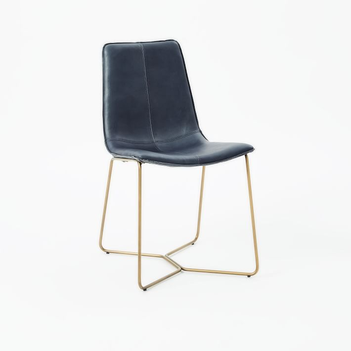 Slope Leather Dining Chair