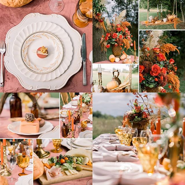 All the falls feels today 🍂🌾 Check out this amazing Autumn inspired tablescape from the styled shoot i was a apart of. I cannot wait to share so many more images from this session  Vendor love