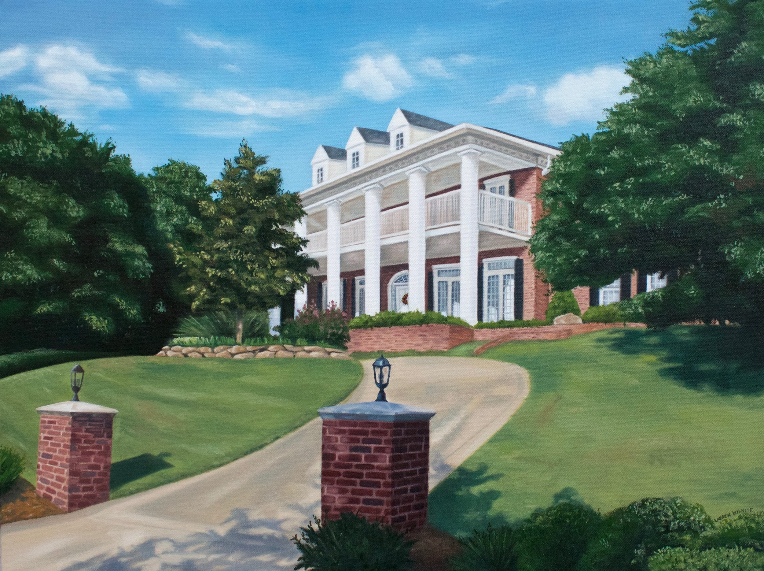 """The McGinnis's Texas Home, 24""""x18"""", Oil Paint on Canvas, 2016"""