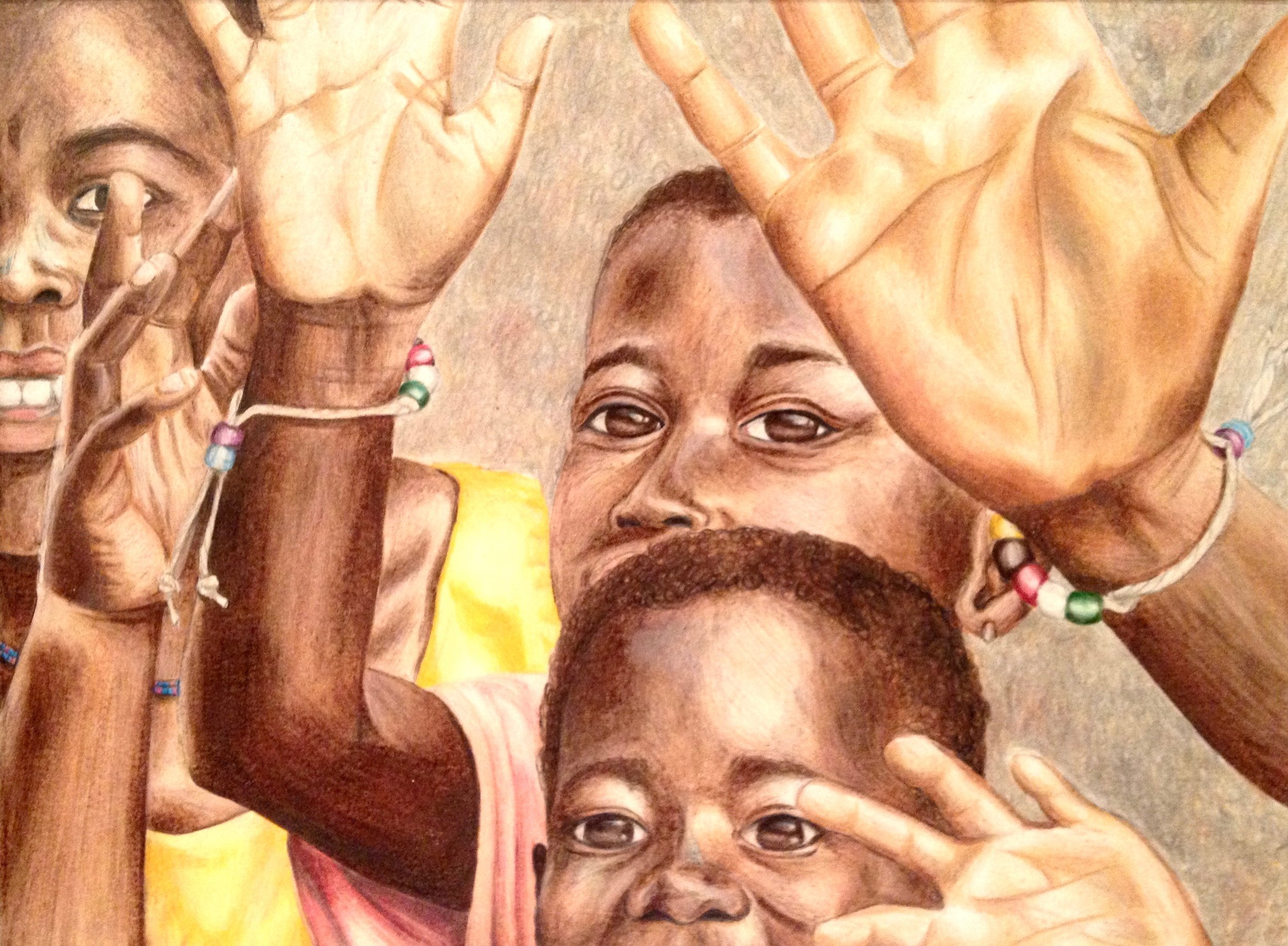 Goodbyes, Colored Pencil, 2012