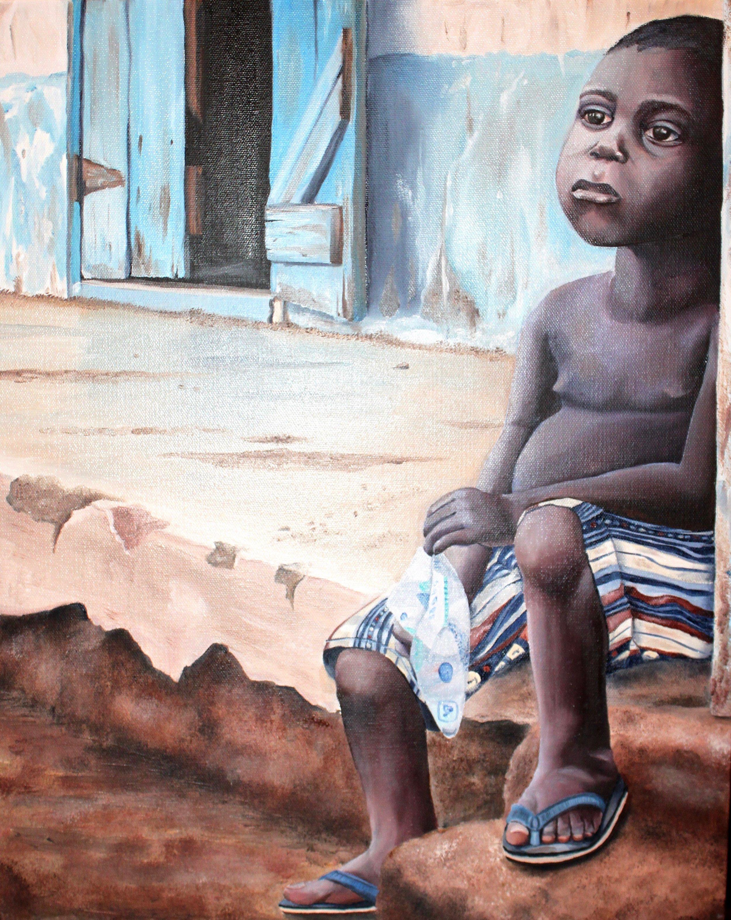 """Jonathan, 16""""x20"""", Oil on Canvas, 2012"""