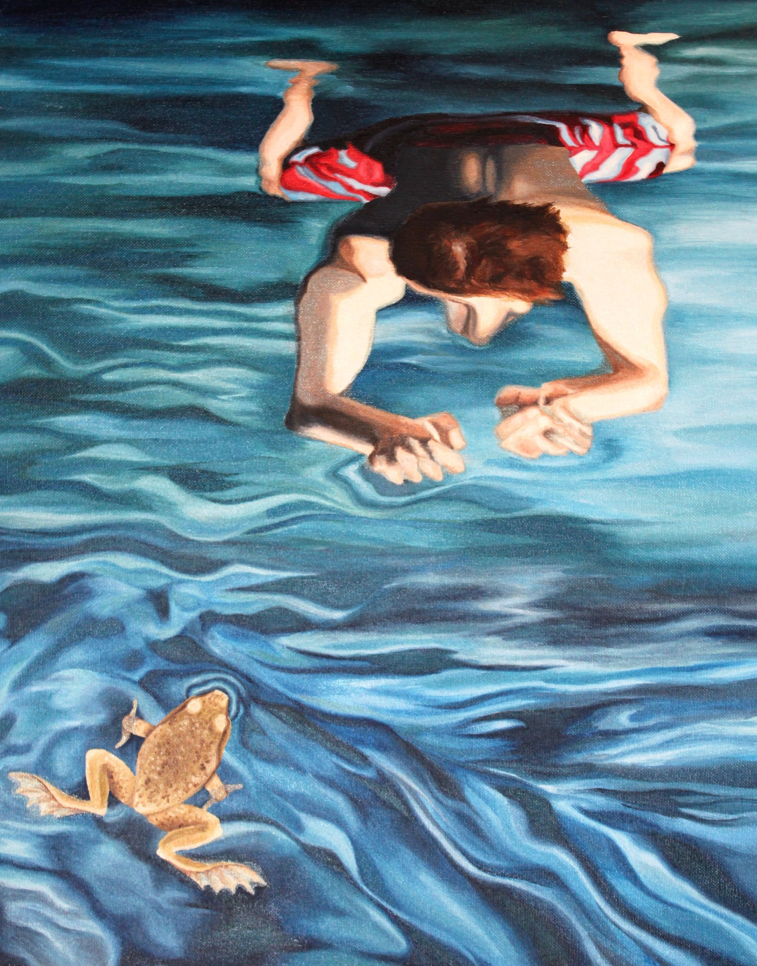 Swimmers, Oil on Canvas, 2011