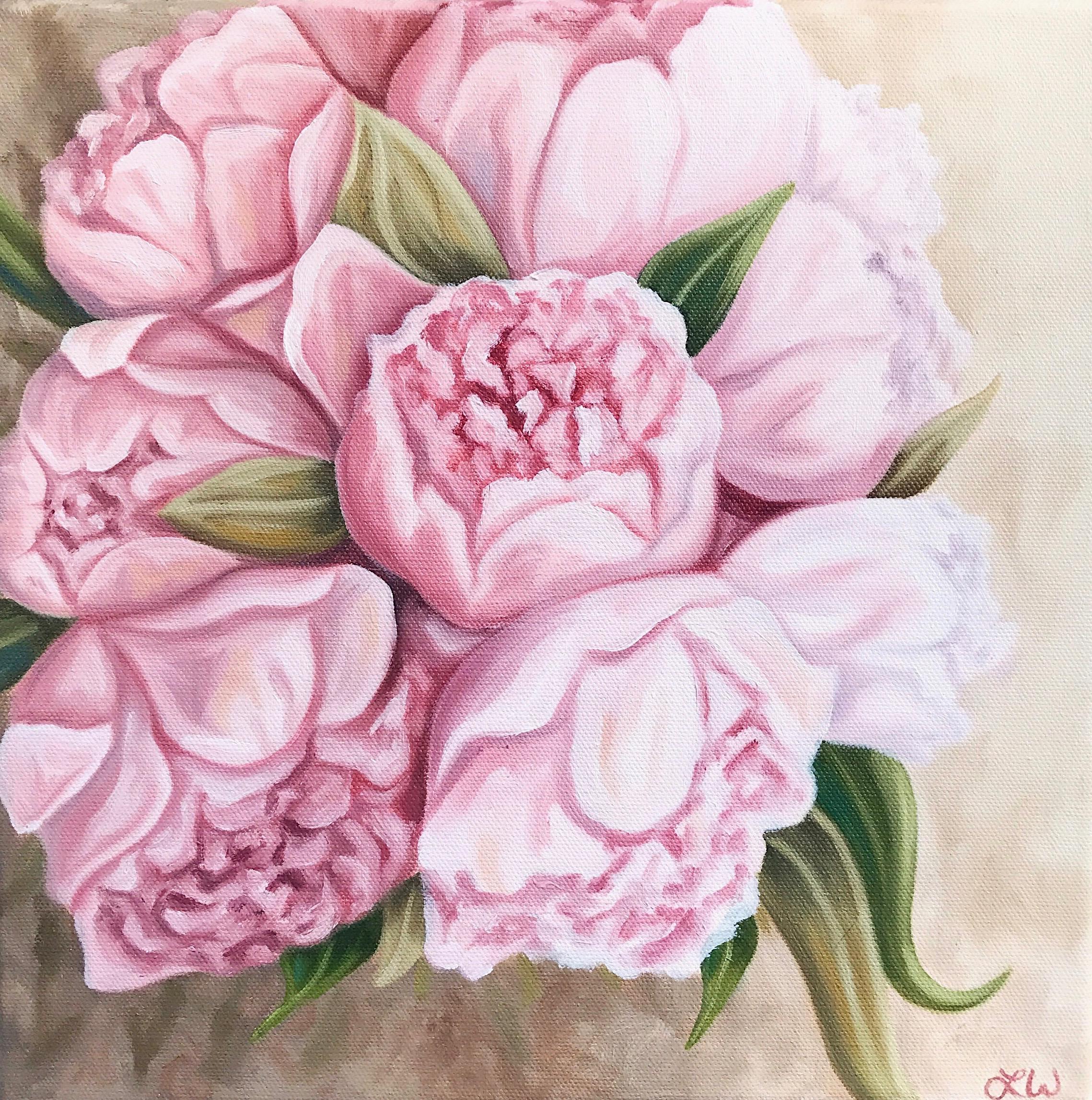 """Katie's Wedding Bouquet, 12""""x12"""", Oil Paint on Canvas, 2017"""