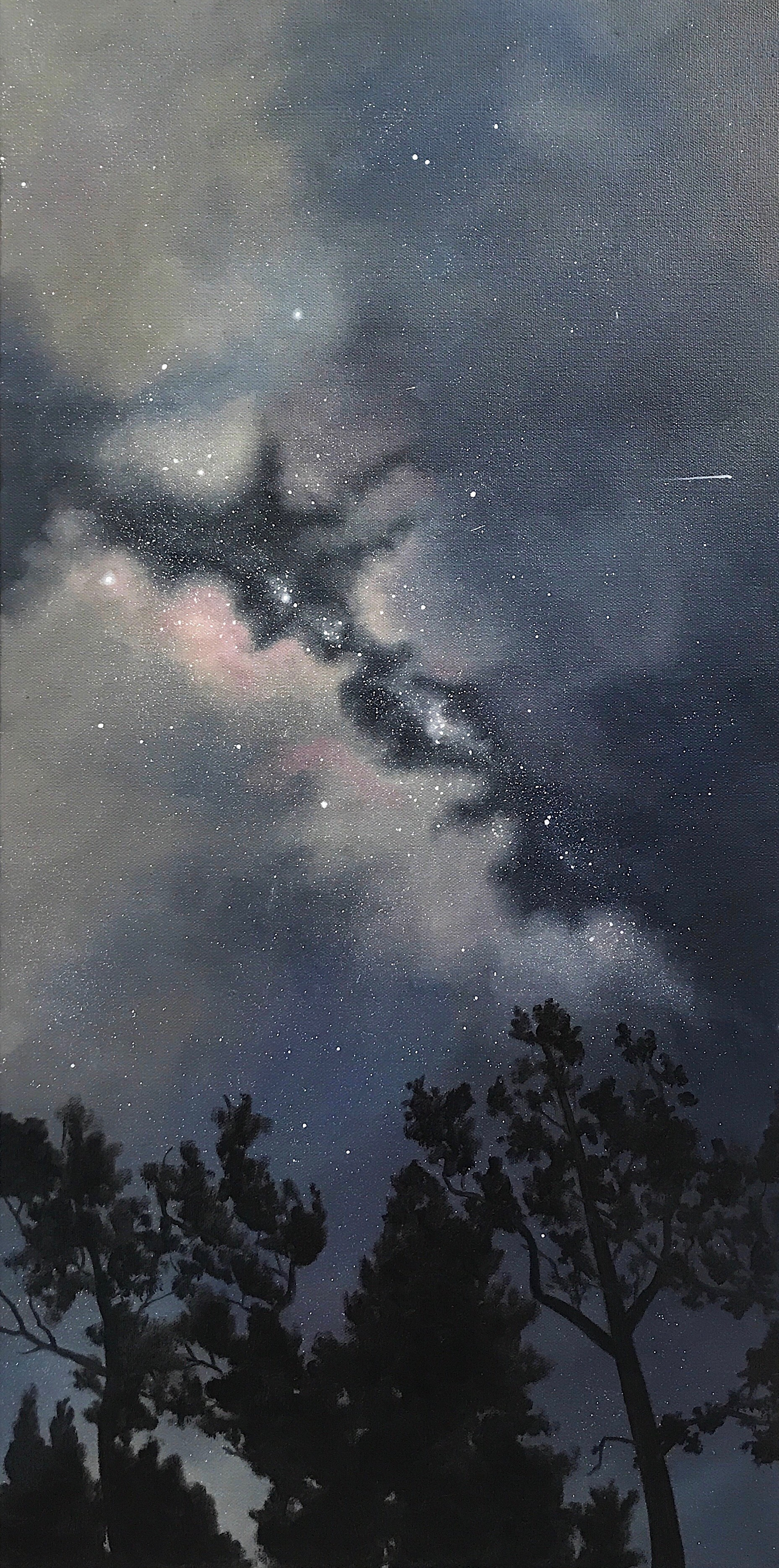 """Look Up, 15""""x30"""", Oil Paint on Canvas, 2017"""