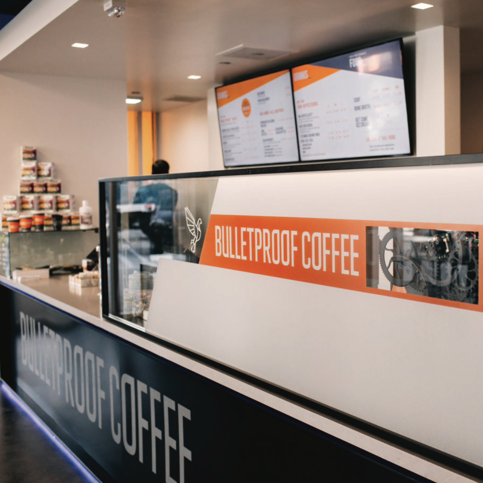 Bulletproof Coffee (LA // Santa Monica + Arts District)   Brand Strategy, Packaging, Illustration, Design, All Trades, Permit Expediting + Construction